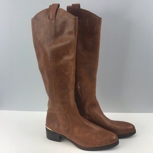 Louise et cie chestnut brown leather boots 7 1/2